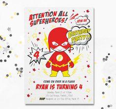 The Flash invite Cute Flash invitation The Flash Party