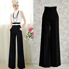 Cheap trousers cotton, Buy Quality sport brand logos and names directly from China trouser buttons Suppliers: 2016 Hot Sale Loose Zipper Fly Solid Pantalones New Women Casual High Waist Flare Wide Leg Long Pants Palazzo Trousers Palazzo Trousers, Wide Leg Palazzo Pants, Long Pants, Wide Leg Trousers, Trousers Women, Wide Leg Pants, Pants For Women, Clothes For Women, Women's Pants