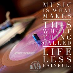 Music makes everything less painful