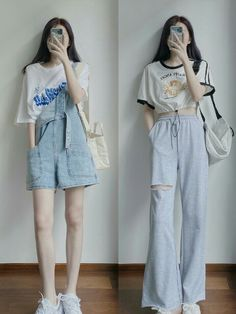Korean Outfit Street Styles, Korean Fashion Dress, Korean Outfits, Basic Outfits, Teen Fashion Outfits, Cute Casual Outfits, Mode Kpop, Aesthetic Clothes, Streetwear Fashion