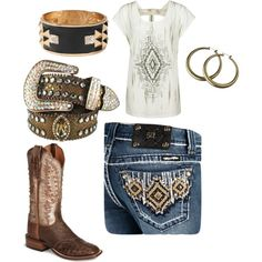 """Brown Cowgirl"" by ashleyelliott-1 on Polyvore"