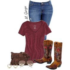 """""""Cowgirl!"""" by maria-garza on Polyvore"""