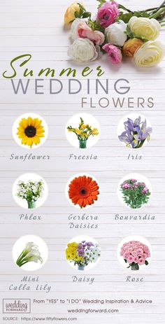 summer wedding flowers for your bouquets reception