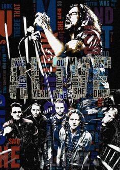 Poster Pearl Jam cotton canvas Handmade Wall Decor by Artistico, $28.00