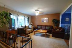 Raised ranch home pinterest in the corner living for Bi level living room ideas