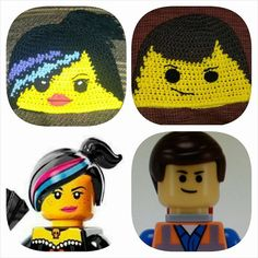 Wyldstyle and Emmet Hat Patterns by LoveableBuddeez on Etsy