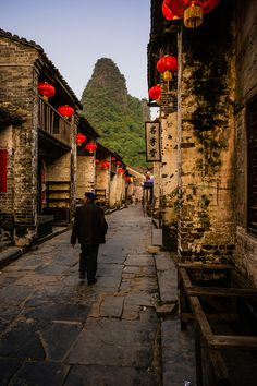 Huangyao Ancient town, Guangxi. china, ready for new year of the goat