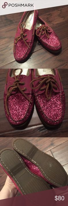 Pink sparkly Sperry shoes Brand new. No box! Never worn. Offers welcome Sperry Top-Sider Shoes