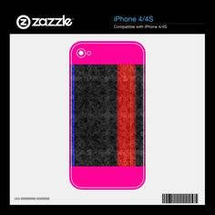 Red Stripe Skins For The iPhone 4S