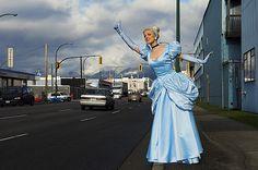 Cinderella auto stop by Dina Goldstein (Fallen Princesses)