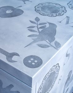 Samantha Ceccobelli - Painted bed-side table (stencil)