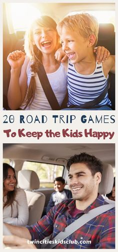 Twin Cities Kids Club Blogs: 20 Road Trip Games to Keep the Kids Happy - Road trips are not for everyone, especially people who have kids. Road trips mean planning, and that's not always easy to do. You end up spending 14 hours just getting ready for a 4-hour journey. At the same time, a well-planned headstart makes the trip eight times easier in the long-run. | Road Trips | Family Road Trips | Road Trip Game | Kids Game | Kids Fun | Family Fun Family Road Trips, Family Travel, Cool Kids, Kids Fun, Road Trip Games, Twin Cities, Head Start, Travel Deals