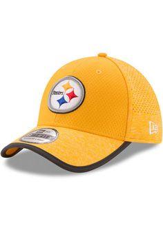 8701881cc07 New Era Pittsburgh Steelers Mens Gold 2017 Official Training Flex Hat  Pittsburgh Steelers Merchandise