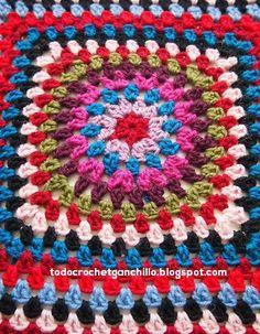 espalda abrigo vintage crochet