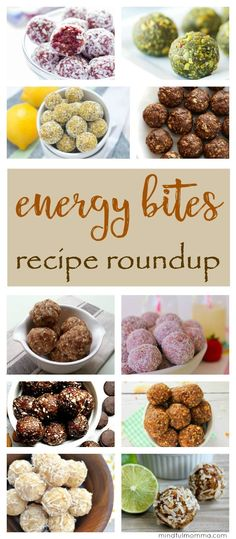 A roundup of homemade energy bites recipes in every flavor combination you can think of - for an easy, healthy, kid-friendly snack, breakfast or dessert. no bake snacks energy balls Healthy Protein Snacks, Healthy Snacks For Kids, Easy Snacks, Healthy Camping Snacks, Healthy Meals, Healthy Homemade Snacks, Protein Bites, Dessert Healthy, Healthy Shakes