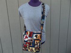 Cowboy Old West Crossbody Shoulder Novelty Bag by OMGDesigns