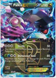 Pokemon - Palkia-ex 66 - Plasma Blast - Holo Cool Pokemon Cards, Rare Pokemon Cards, Pokemon Trading Card, Trading Cards, Mega Pokemon, Pokemon Games, Mega Mewtwo, Pokemon Mewtwo, Pikachu
