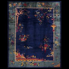 "Chinese Art Deco Rug 中国装饰艺术风地毯 8'-9"" x 11'-4""  #22181"