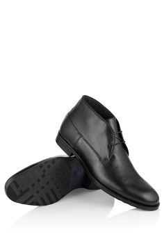 BOSS Botines 'Dresert' en piel lisa Negro free shipping