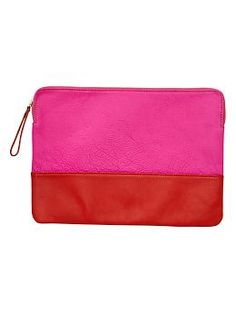 Two-tone leather clutch | Gap