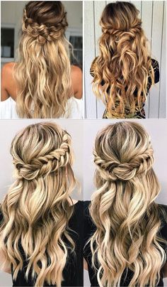 Over 100 popular wedding hairstyles Bride Hairstyles beyondtheponytail Hairstyles Popular Wedding Wedding Hair Down, Wedding Hairstyles For Long Hair, Box Braids Hairstyles, Wedding Hair And Makeup, Everyday Hairstyles, Bride Hairstyles, Down Hairstyles, Hairstyle Wedding, Hairstyles Pictures