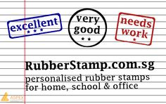 Get your ideal rubber stamps now! Customise your own design at http://www.rubberstamp.com.sg/