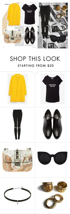 """""""Untitled #61"""" by margarita96 ❤ liked on Polyvore featuring Zara, Express, Topshop, 3.1 Phillip Lim and Valentino"""