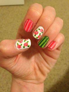 Vintage spring nails<3