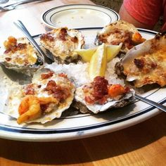 Oysters Lafitte at @saltinerestaurant are divine! We ate two dozen!