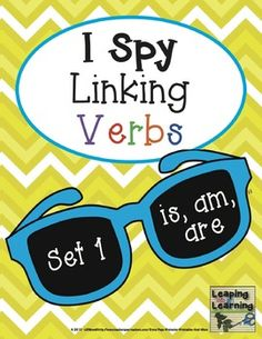Need to work on the correct usage of linking verbs IS, AM and ARE with your students? This resource is designed for center use, individua. Teaching Grammar, Teaching Reading, Teaching Resources, Learning, Speech Language Pathology, Speech And Language, Back To School Activities, School Ideas, Linking Verbs
