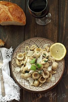 Pasta alla Norcina .  A great, authentic Italian recipe that includes how to make your own Italian pork sausage (no casing needed) in about 10 mins.  Cream, sausage, cheese and mushroom enrobe Orecchiette Pasta« All that's Jas