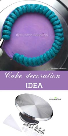 Cake Decorative Turntable with Nozzle Set Cake Decorating Piping, Creative Cake Decorating, Cake Decorating Designs, Cake Designs, Cookie Decorating, Cake Decorating For Beginners, Cake Decorating Techniques, Cake Decorating Tutorials, Frosting Techniques