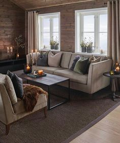 Classic Home Decor .Classic Home Decor Classic Home Decor, Fall Home Decor, Unique Home Decor, Home Living Room, Living Spaces, Cheap Dorm Decor, Home And Deco, Log Homes, Home Remodeling