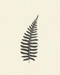Garden Art Botanical Leaves Ferns Nursery Art Printable