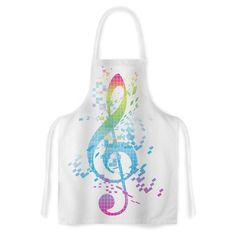 Kess InHouse Frederic Levy-Hadida 'Rainbow Key' Music Artistic Apron