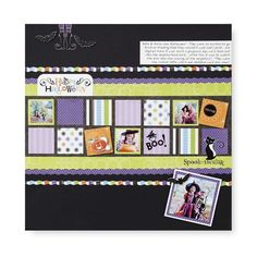 Reflections/Fabulous/Cheerful Halloween Scrapbook Layout