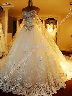bling wedding dresses
