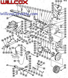 10 best corvette c3 1968 images corvette c3 1976 corvette engine Corvette Front View 1963 1979 corvette rear suspension exploded view exploded view