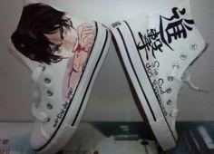Attack on titan  Anime Shoes Custom Attack on titan hand painted  84dba3f244e9
