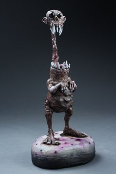 mixed media and acrylic  Dug Stanat Makes Some cool monsters that would make great stalk around costumes!