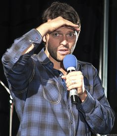 """casfucker: """"Misha looking for something / NJcon Supernatural Cast, Castiel, Dmitri Tippens Krushnic, Perfect World, Misha Collins, Beautiful Pictures, It Cast, Actors, People"""