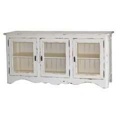 Farmhouse 3 Door Side Board With Chicken Wire