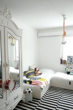 11 unisex boys girls kids room childrens bedroom childs black white rug armoire