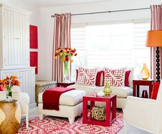 A Daring Red Hue Was Just The Thing This Compact Space Needed To Turn Up