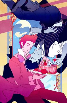 Downswept: Prince Gumball and Marshall Lee by ~flightangel on deviantART