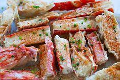 King Crab Bake Crab Legs Recipe, King Crab Recipe, Crab Bake, Lobster Recipes, Crab Recipes, Baked Crab Legs, Cooking Crab, Bhg Recipes, Crab Rolls