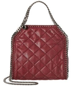 STELLA MCCARTNEY STELLA MCCARTNEY FALABELLA QUILTED SHAGGY DEER MINI TOTE'. #stellamccartney #bags #shoulder bags #hand bags #suede #tote #lining #