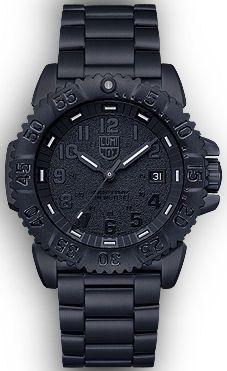 Luminox 3152.BO Men's Watch:  44 MM, Black ion plated stainless steel case & stainless steel bracelet, 200m water resistance, UPC: 746469315216