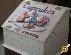 Decoupage Glass, Arte Country, Altered Boxes, Box Frames, Painting On Wood, Reuse, Stencils, Decorative Boxes, Diy Crafts