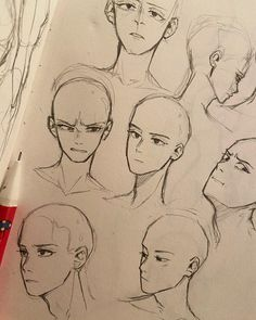 Drawing Expressions, Facial Expressions, Arte Sketchbook, Art Drawings Sketches Simple, Beautiful Sketches, Art Poses, Cartoon Art Styles, Anime Sketch, Art Reference Poses